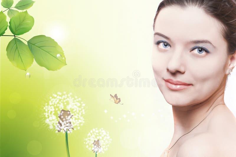 Woman face stock photo