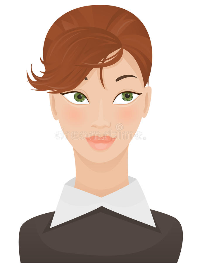Woman face royalty free illustration