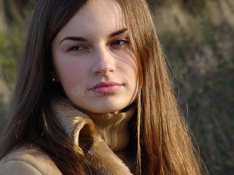 Download Woman_face stock photo. Image of nature, woman, girl, nose - 252534