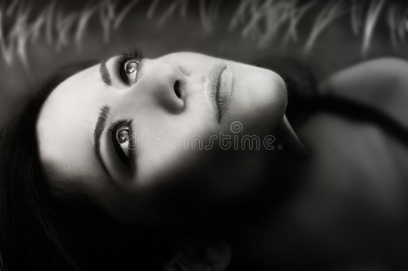 Woman Face stock photo