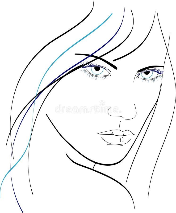 Woman face stock illustration