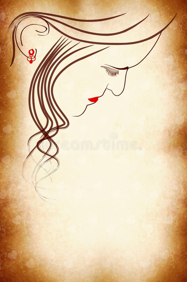Woman Face Cover Page Royalty Free Stock Photos
