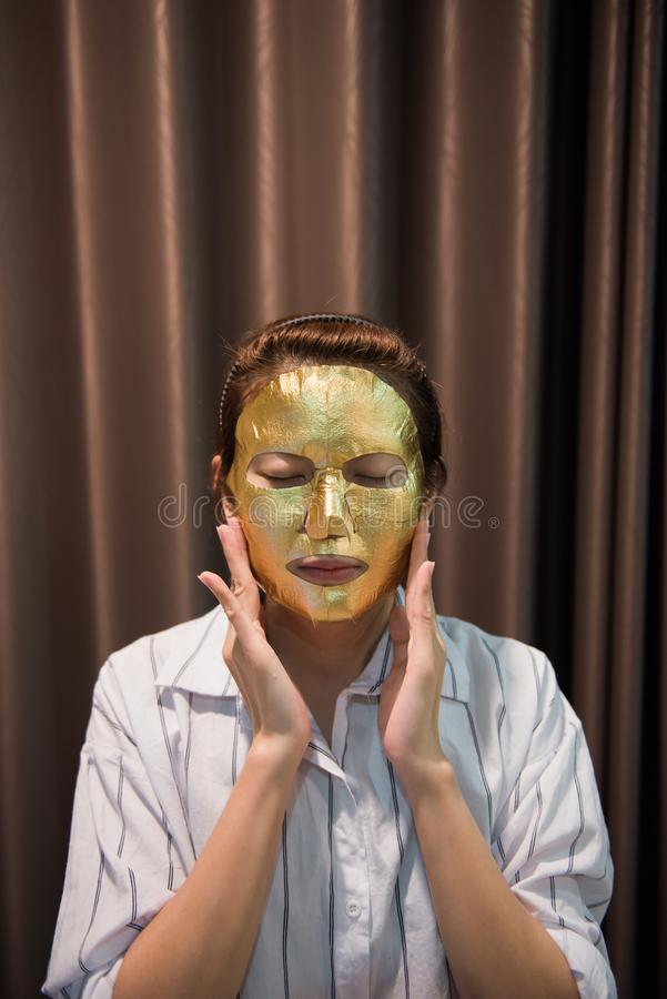 Woman Face Mask. royalty free stock photos