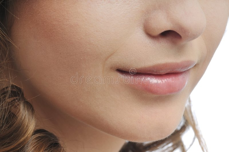 Download Woman Face - Mouth And Lips Detail Stock Photo - Image: 9357314