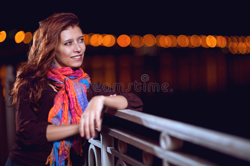Download The woman face the night stock image. Image of model - 27433561