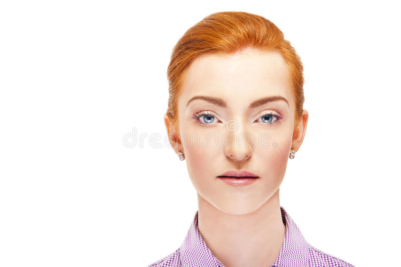Download Woman Face Over White Background Red Hair Stock Image - Image: 35504901