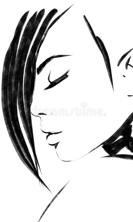 Woman Eyes Closed Stock Illustrations 4 312 Woman Eyes Closed