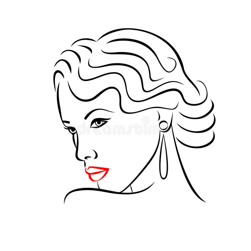 Woman face silhouette abstract concept for fashion design for Abstract beauty salon