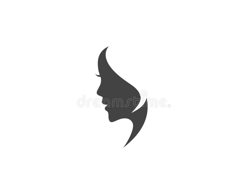 Woman face silhouette character illustration stock illustration