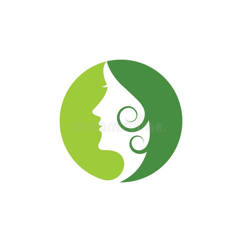 Woman face silhouette. Character illustration logo icon vector beautiful beauty business company corporate curve design emblem female girl hair healthy idea vector illustration