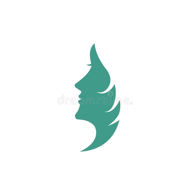 Woman face silhouette royalty free illustration