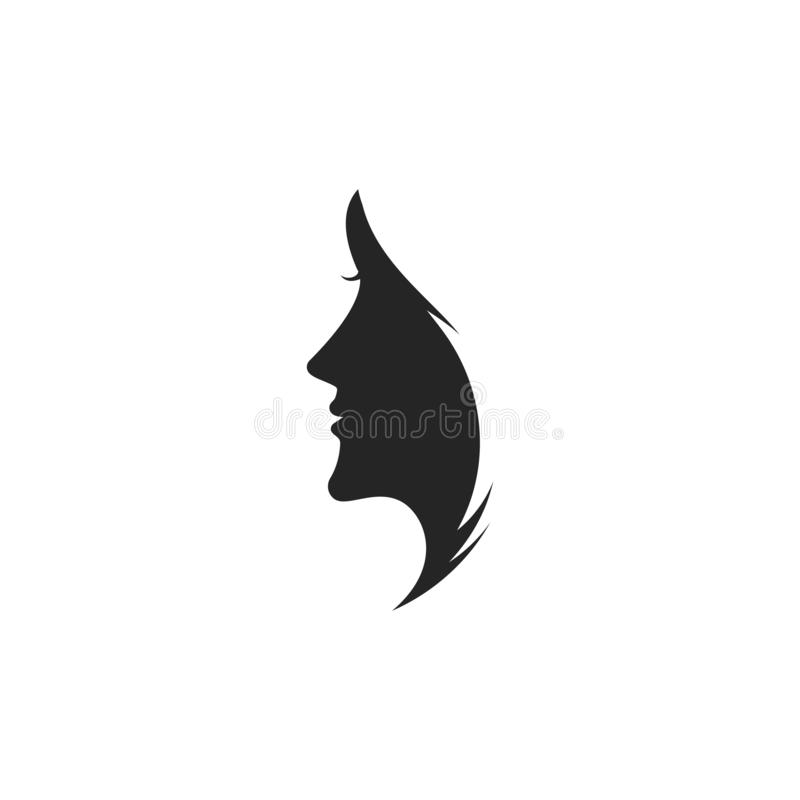Woman face silhouette stock illustration