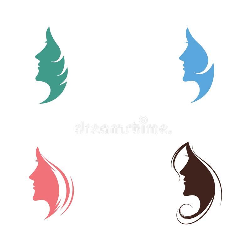 Woman face silhouette vector illustration