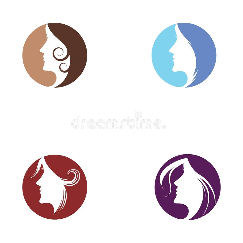 Woman face silhouette. Character illustration logo icon vector beautiful beauty business company corporate curve design emblem female girl hair healthy idea royalty free illustration