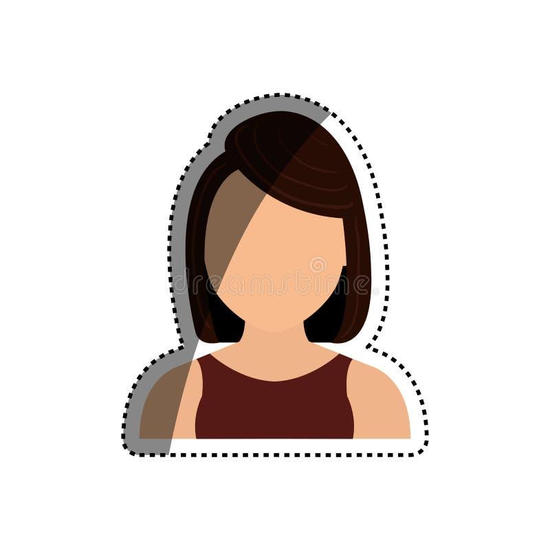Woman faceless head. Icon illustration graphic design vector illustration
