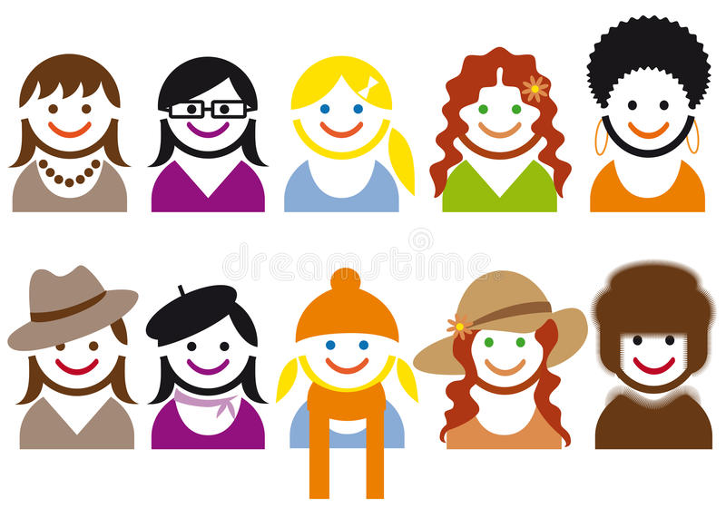 Download Woman Faces, Vector Stock Photography - Image: 17994122