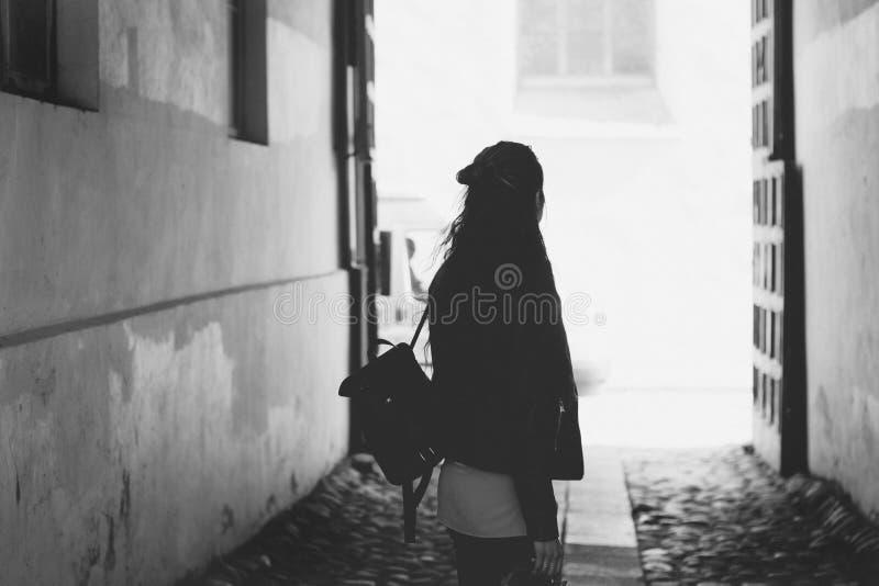 Woman Facing Back Photo royalty free stock photo