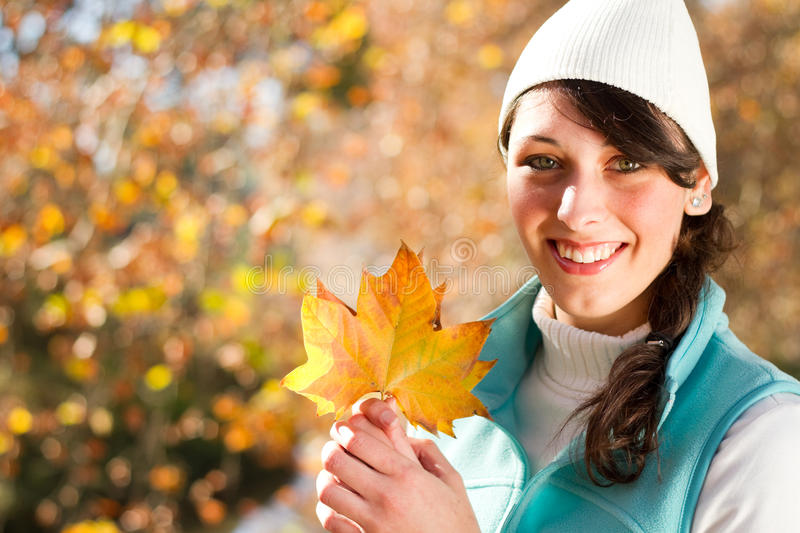 Download Woman fall stock image. Image of fall, copy, beautiful - 14877069