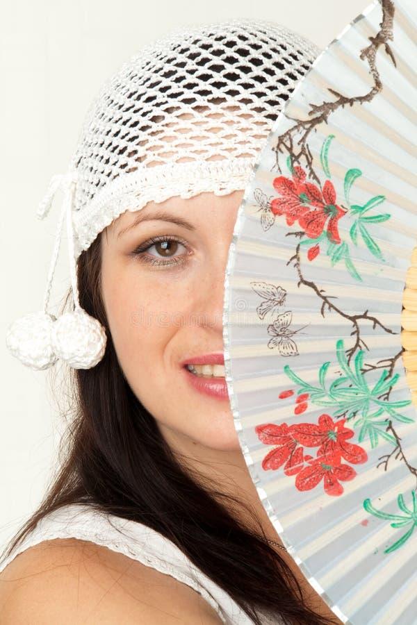 Download Woman with fan stock photo. Image of beautiful, stylish - 7330212