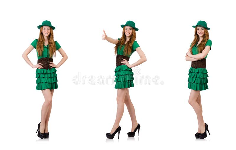 Woman in fashion clothing concept stock photography