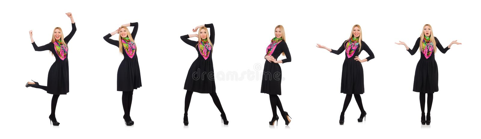 Woman in fashion clothing concept royalty free stock image