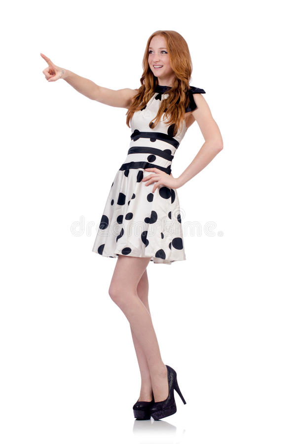 Woman in fashion. Clothing concept royalty free stock photography