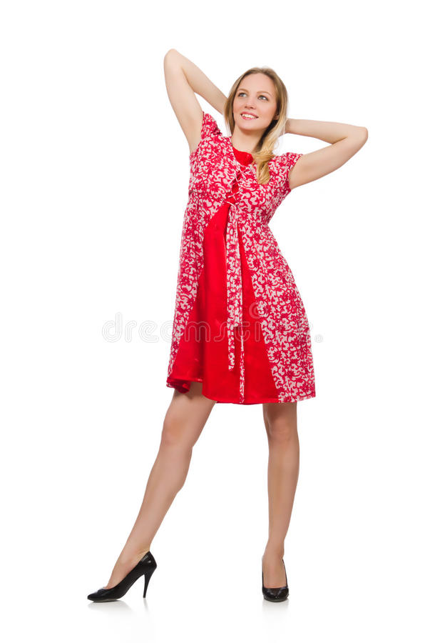 The woman in fashion clothing concept. Woman in fashion clothing concept royalty free stock images