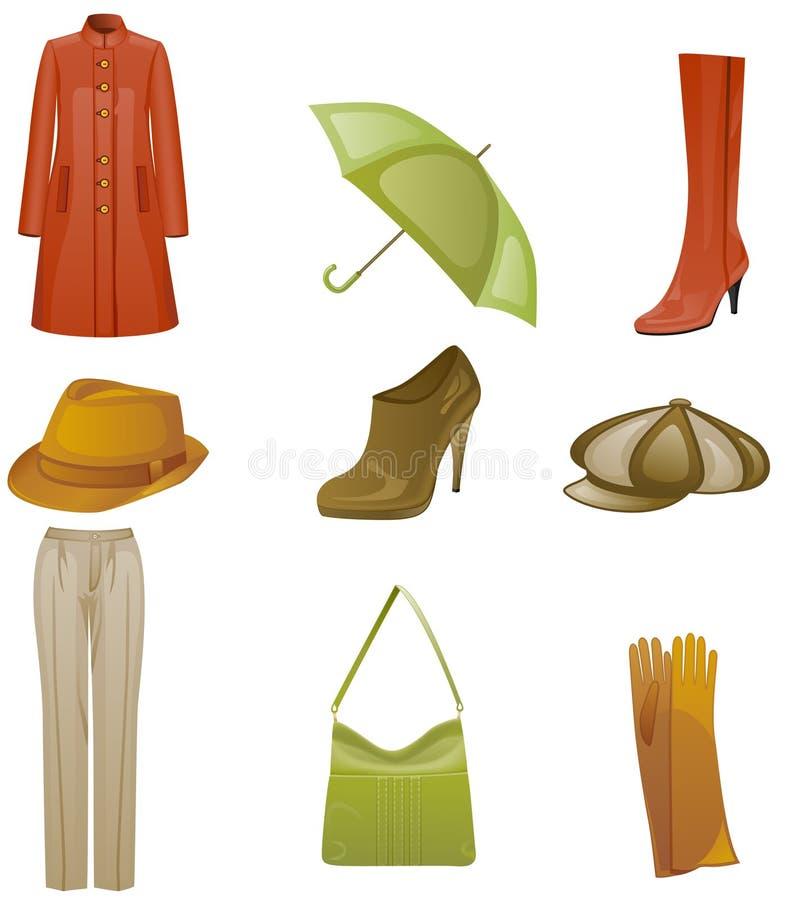Woman fashion icon set vector illustration