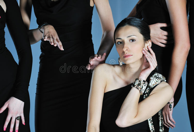 Woman fashion show royalty free stock images
