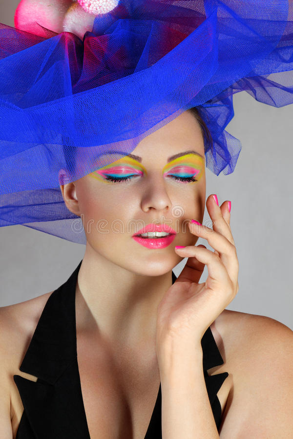 Download Woman in fashionable hat stock photo. Image of glamour - 20901992