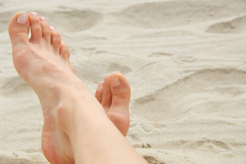 Download Woman feet beach stock image. Image of sand, holiday, female - 993855