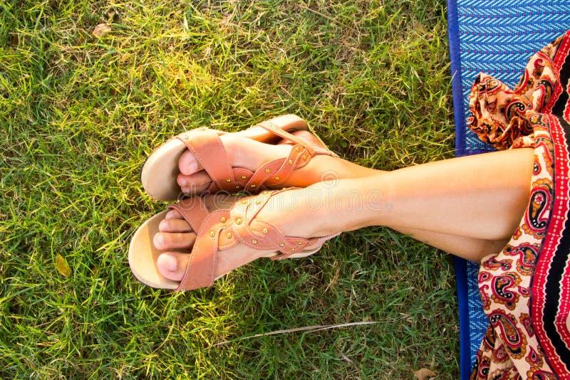 Download Woman Feet Closeup Of Girl Relaxing Stock Photo - Image: 40505984