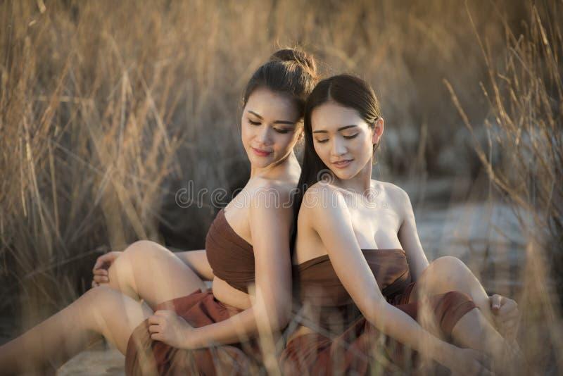 Woman female friend. Beautiful women Asia female friend stock photos