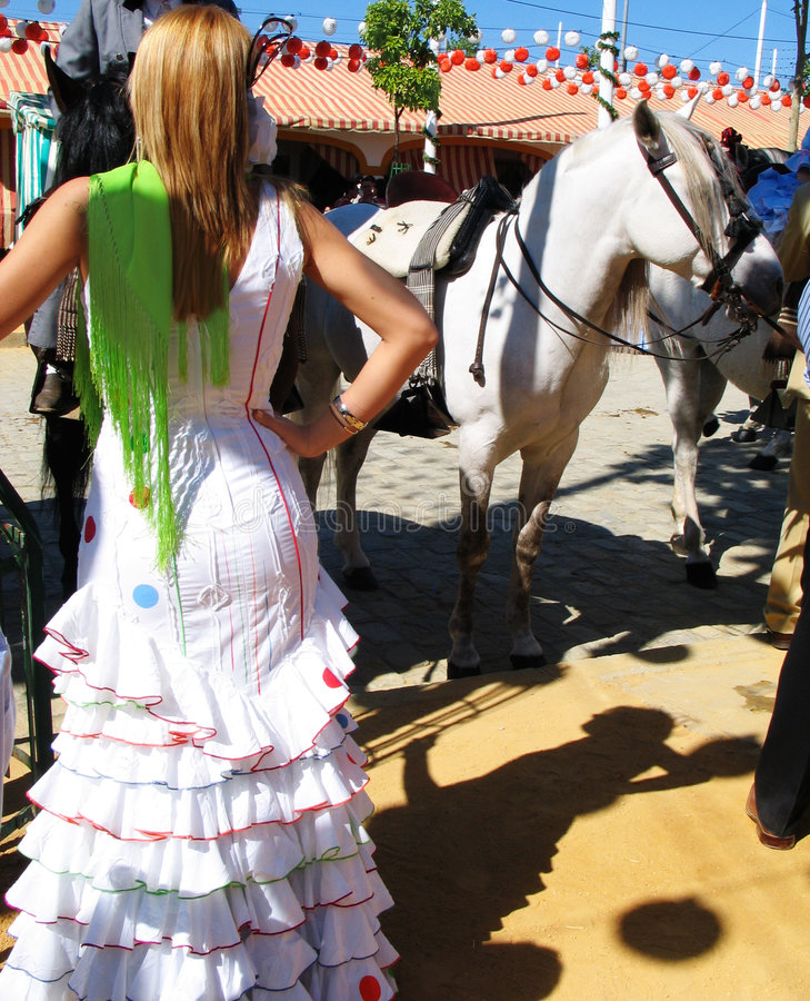 Download Woman at the  feria stock photo. Image of girl, fiestas - 103890