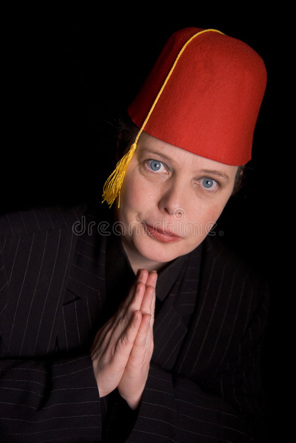 Woman in Fez royalty free stock image