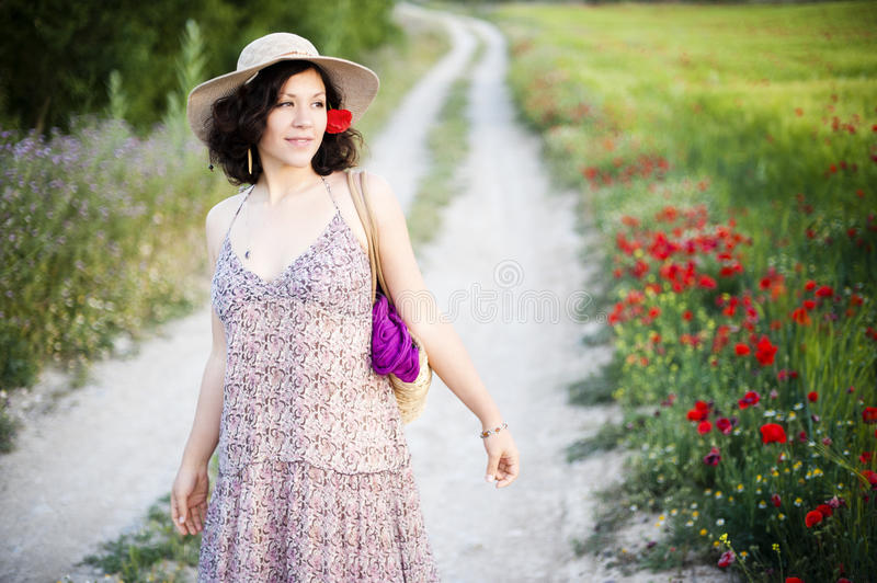 Download Woman In Field Stock Photo - Image: 14559650
