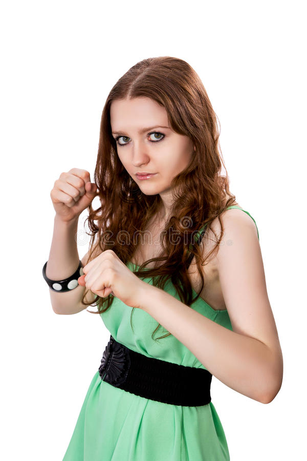 Download Woman fights stock image. Image of brunette, attractive - 31773853