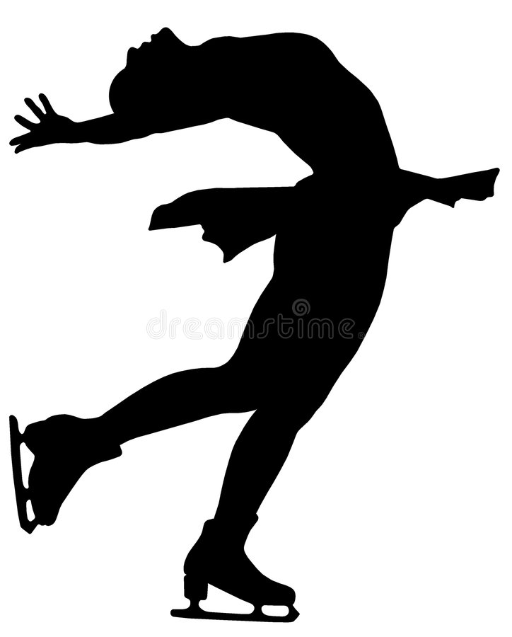 Woman figure skater 02 stock images