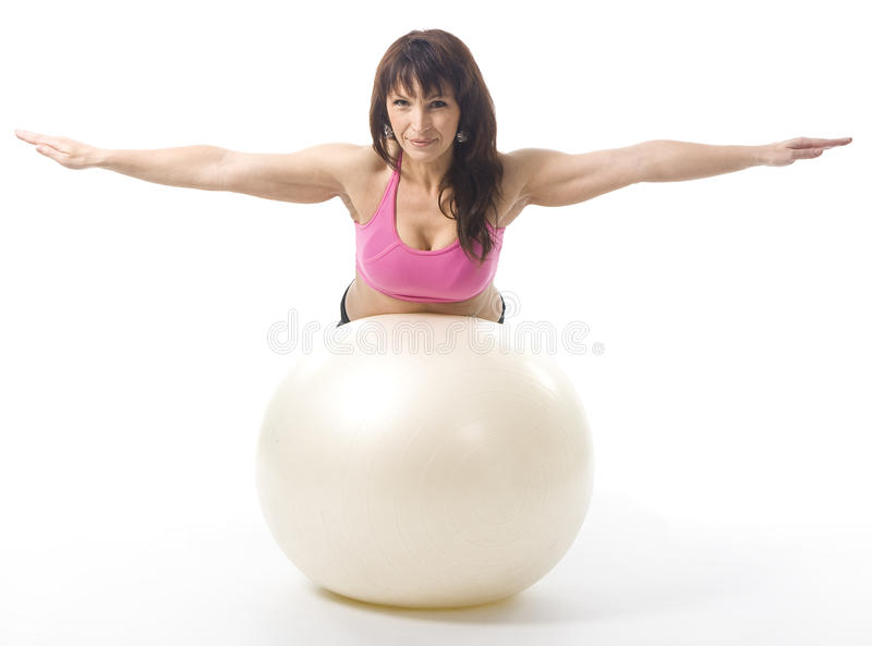 Download Woman with fitball stock photo. Image of fitness, fitball - 16663250