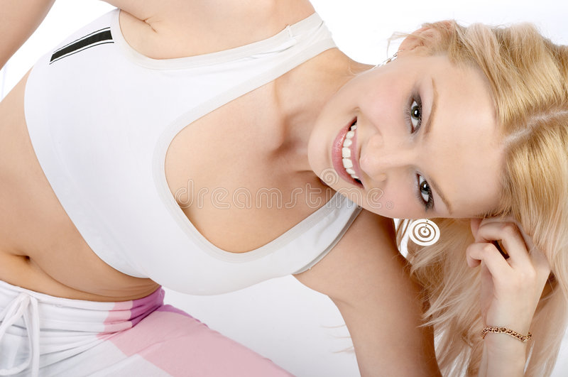Woman in fitness stock image