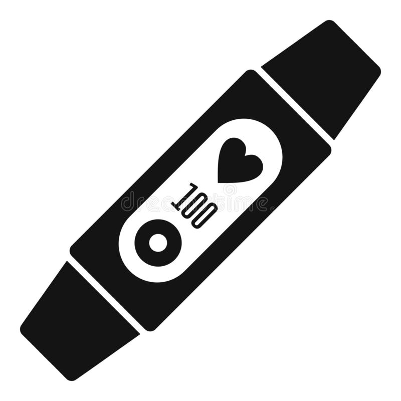 Woman fitness tracker icon, simple style stock illustration