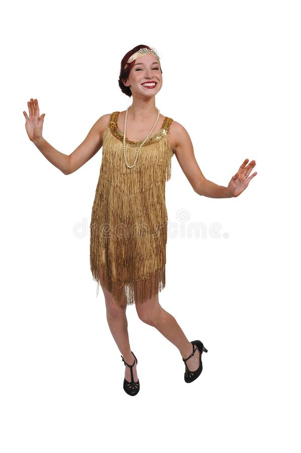Woman flapper girl stock photography