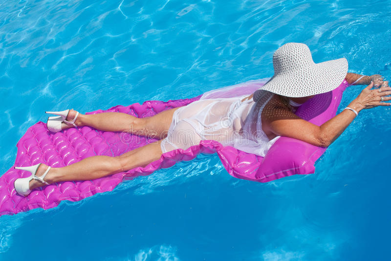 Download Woman Floating stock photo. Image of beautiful, blue - 17577546