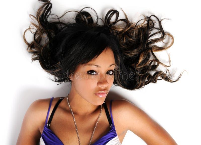 Woman on the Floor stock photo