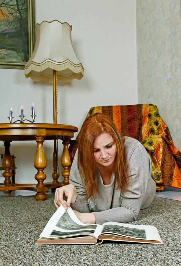 Woman on floor. stock photography