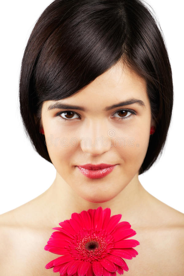 Download Woman with flower stock photo. Image of cute, authentic - 29334032