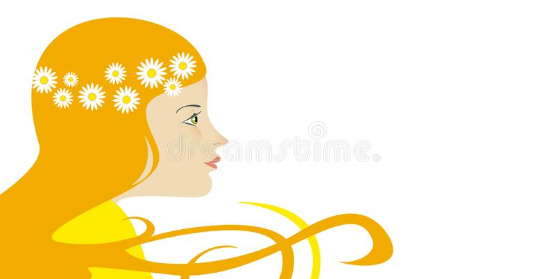 Download Woman with flowers stock illustration. Illustration of woman - 13599411