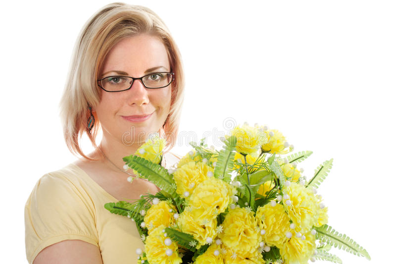 Download Woman with flowers stock image. Image of beautiful, green - 19053711