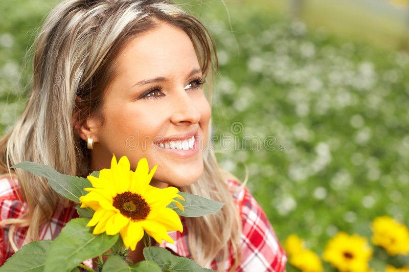 Download Woman with flowers stock image. Image of graft, gardening - 5279623