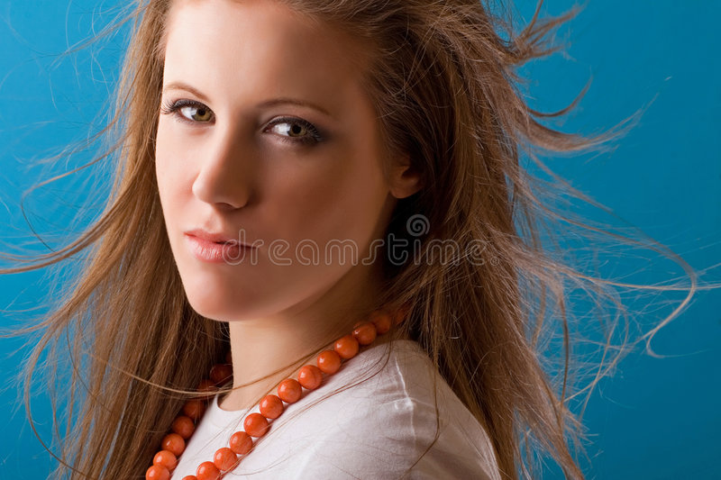 Download Woman with flowing hair stock image. Image of attractive - 8385137